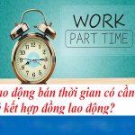 Mẫu hợp đồng lao động bán thời gian