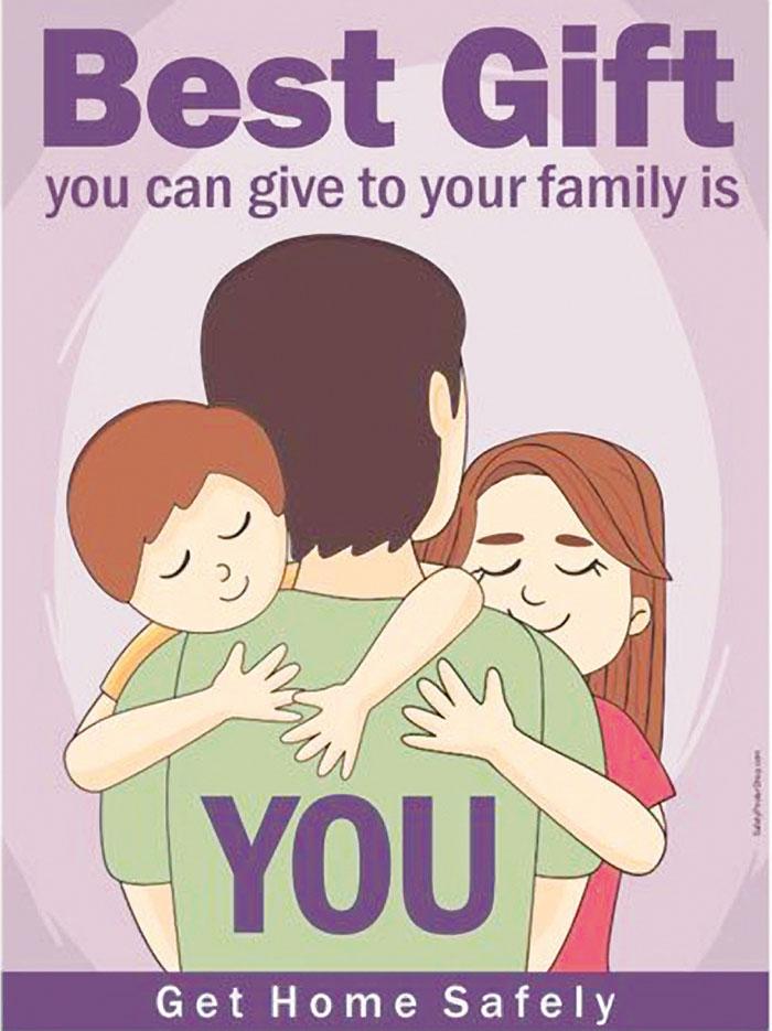Sự an toàn của bạn trong lao động giúp gia đình hành phúc hơn