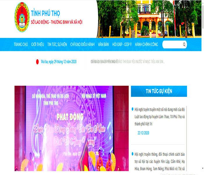 Cổng thông tin điện tử chính thức của Sơ lao động - thương binh và xã hội tỉnh Phú Thọ